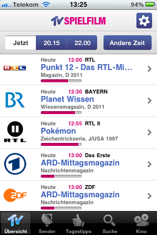 Test Tvspielfilm Iphone App Mit Voiceover Blog Von Webdesign